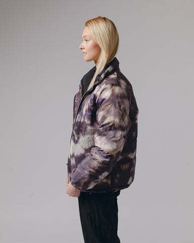 Maiden Noir Puffer Jacekt - Black/Purple Ash Dyed