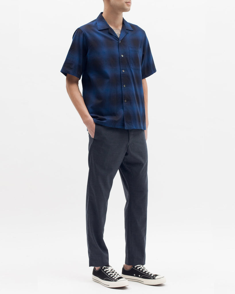 Ombre SS Shirt - Navy Plaid - [product _vendor]