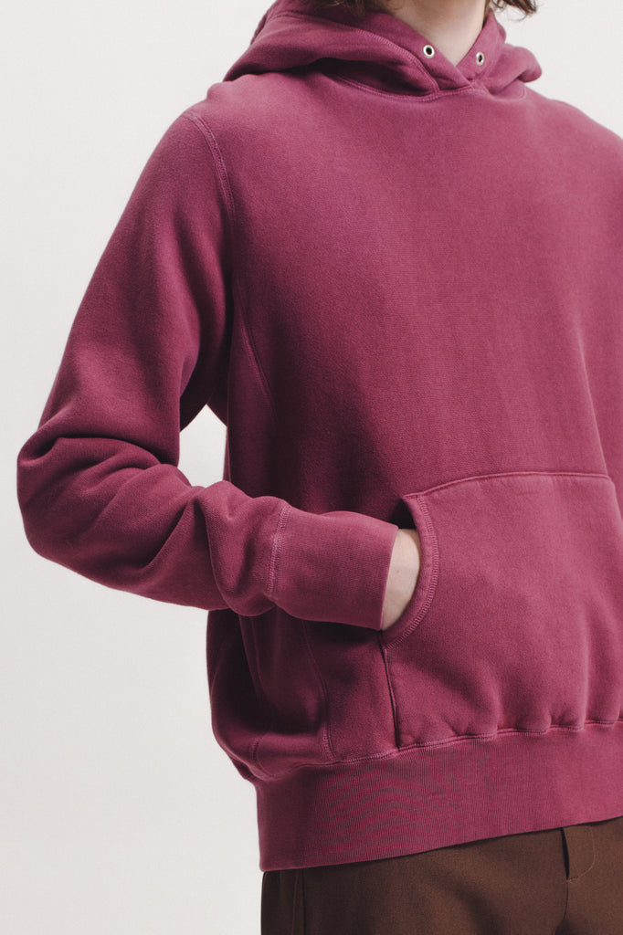 Natural Dyed Hoodie Fleece - Berry