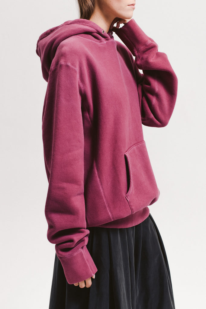 Natural Dyed Hoodie Fleece - Berry - [product _vendor]