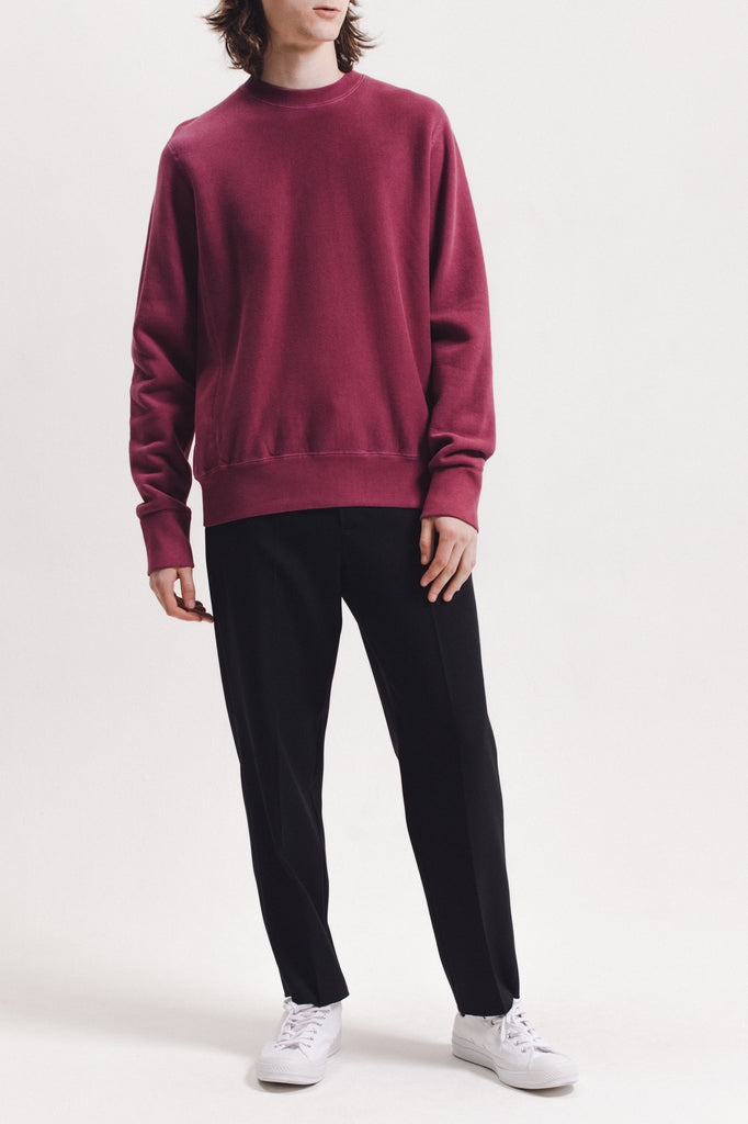 Natural Dyed Crew Fleece - Berry - [product _vendor]