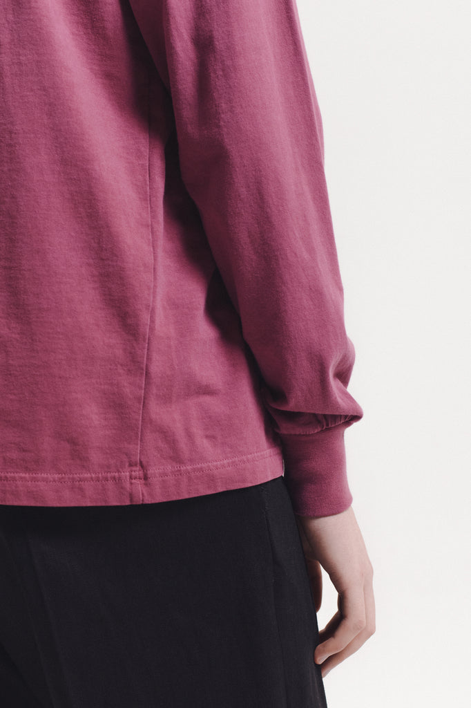 Natural Dyed Block LS Jersey - Berry - [product _vendor]