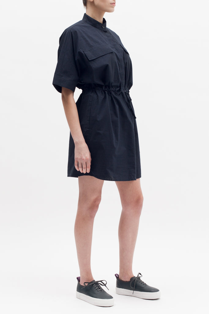 Boxy Shirt Dress - Navy - [product _vendor]