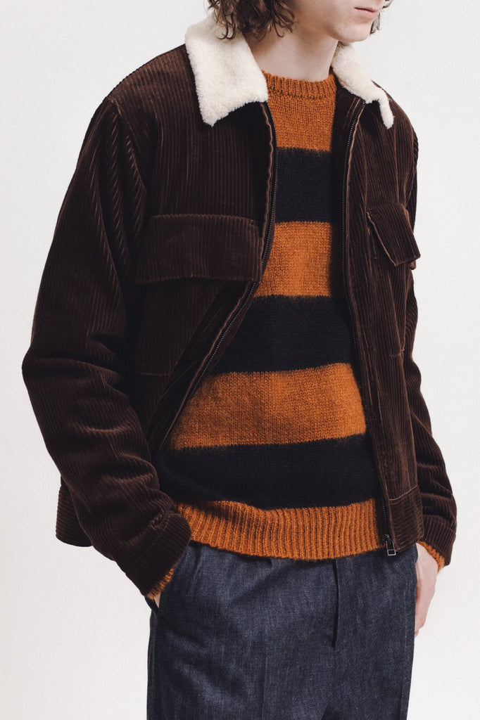 Mohair Knit Sweater - Brown - [product _vendor]