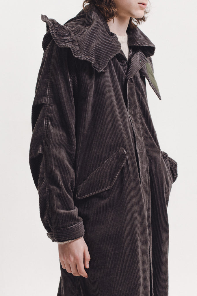Corduroy Mod Coat - Grey - [product _vendor]