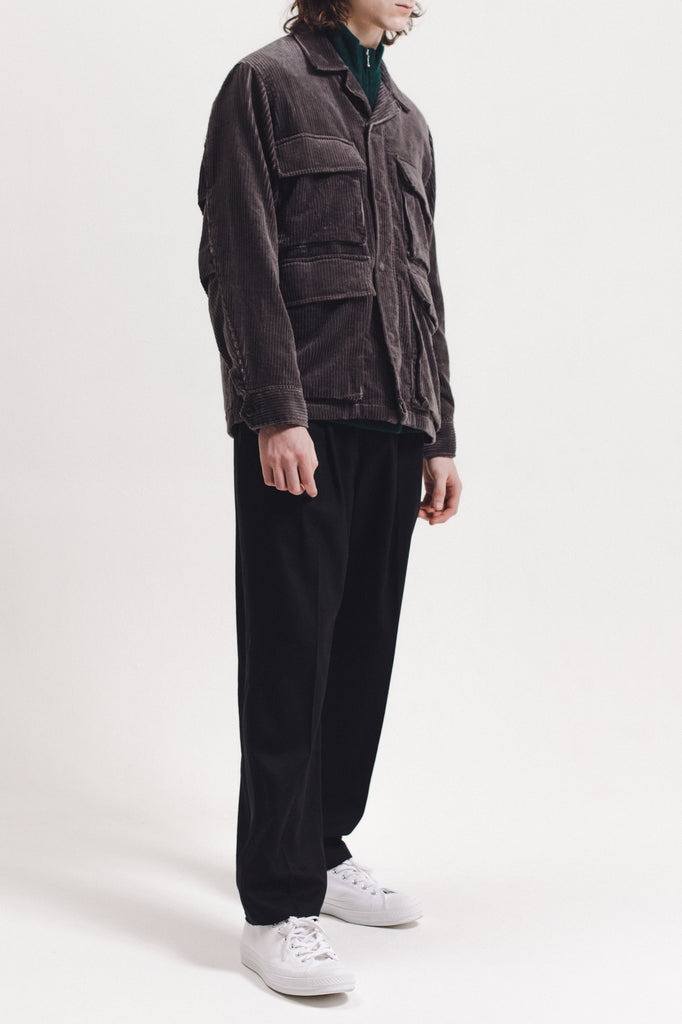 Corduroy Twill Field Jacket - Grey - [product _vendor]