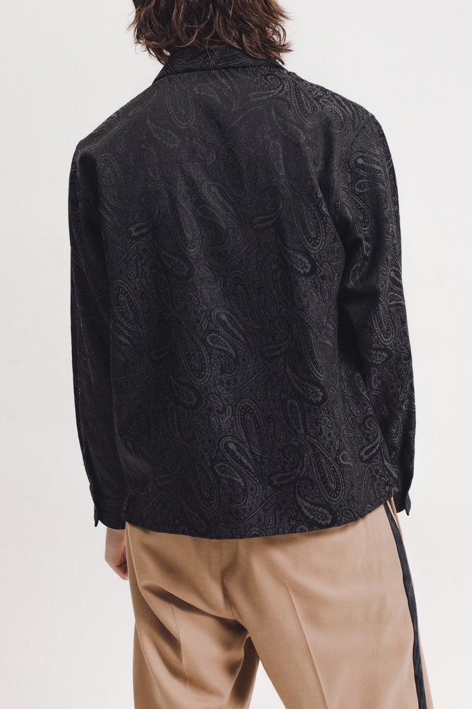 Paisley LS  Shirt - Black - [product _vendor]