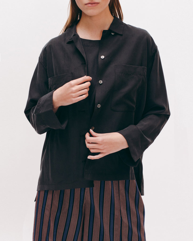 Rayon Silk LS Shirt - Black - [product _vendor]