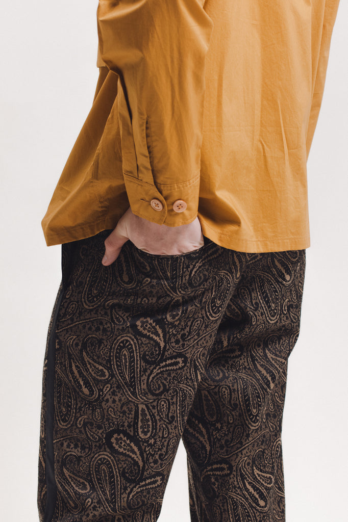 Wool Paisley Trouser - Brown - [product _vendor]