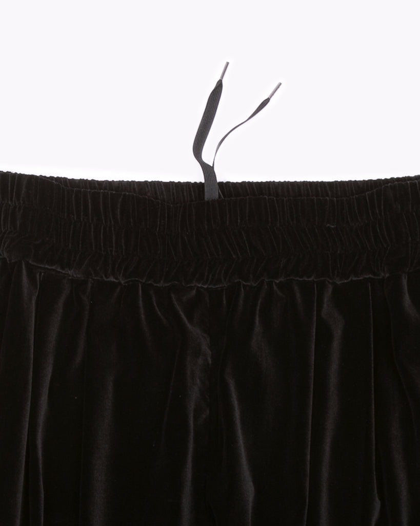 Velvet Crop Trouser - Black