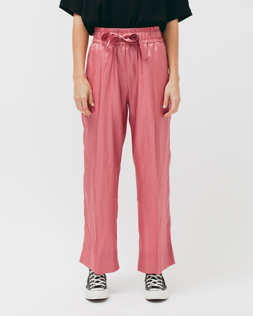 Tile Long Trouser - Coral - Maiden Noir