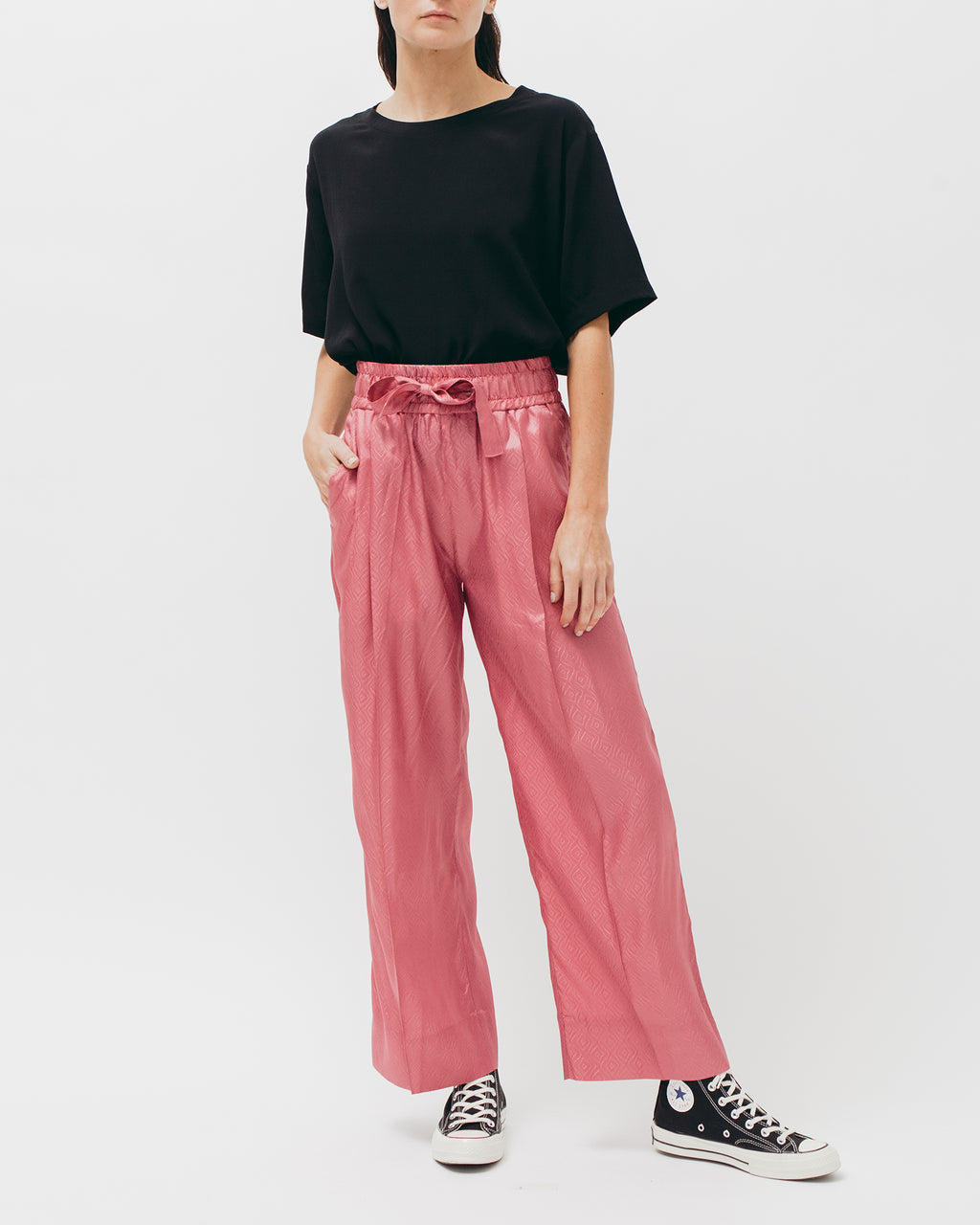 Tile Long Trouser - Coral - [product _vendor]
