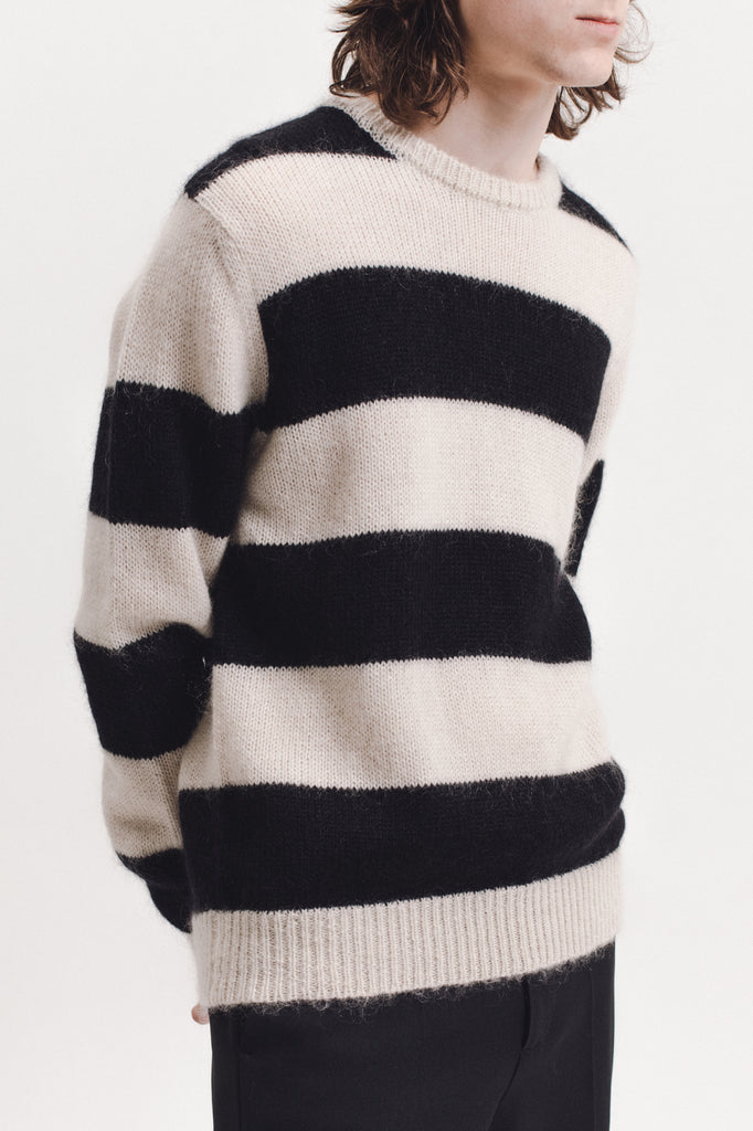 Mohair Knit Sweater - Natural - [product _vendor]