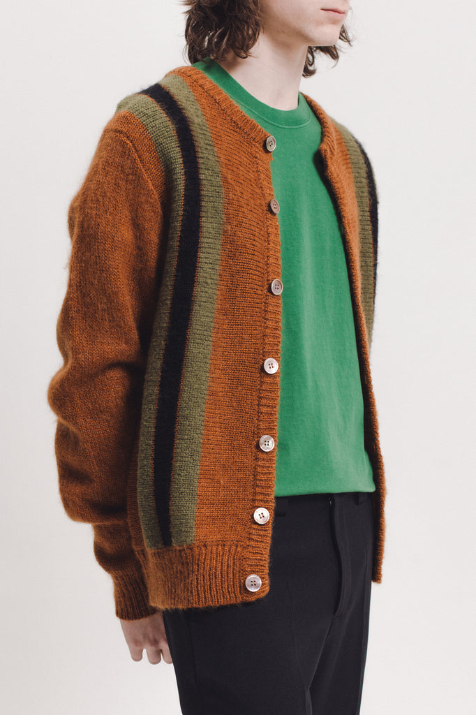 Mohair Knit Cardigan - Brown