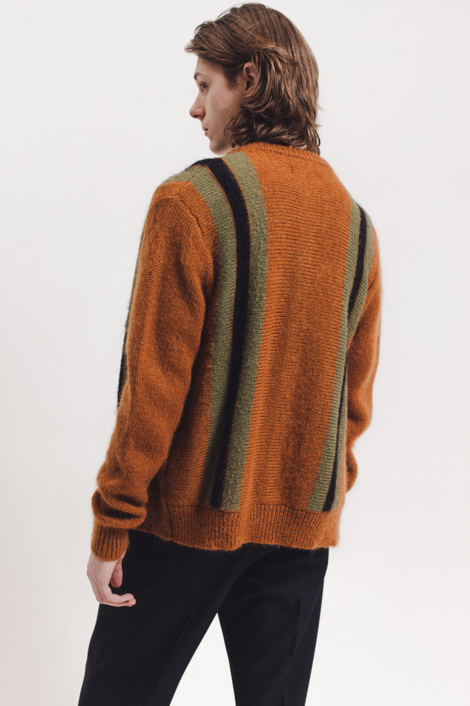 Mohair Knit Cardigan - Brown - [product _vendor]