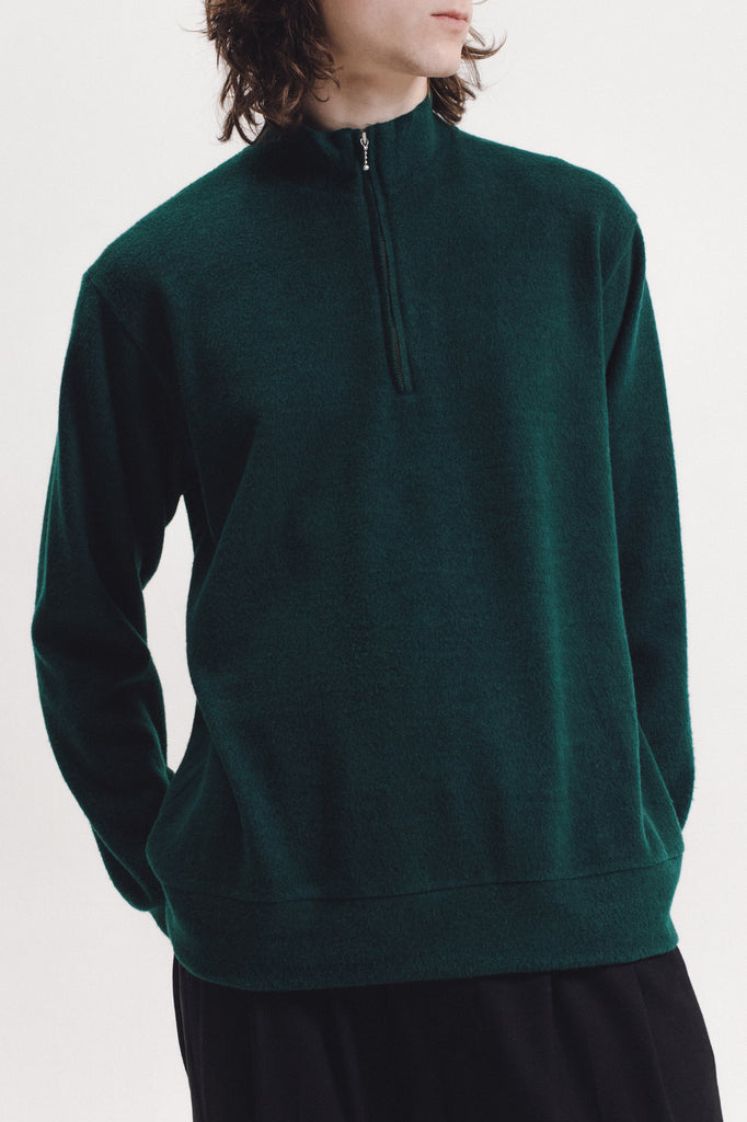 Brush Mock Neck - Pine