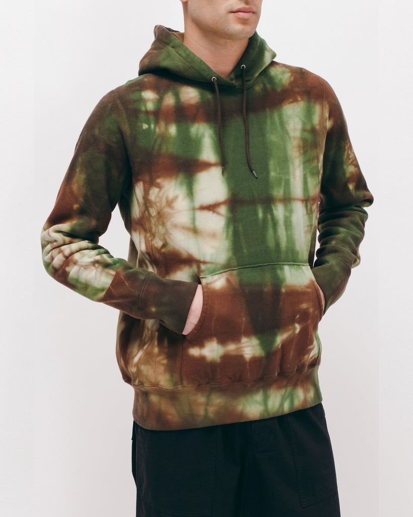 Natural Dyed Hoodie Fleece - Woodland Tie Dye