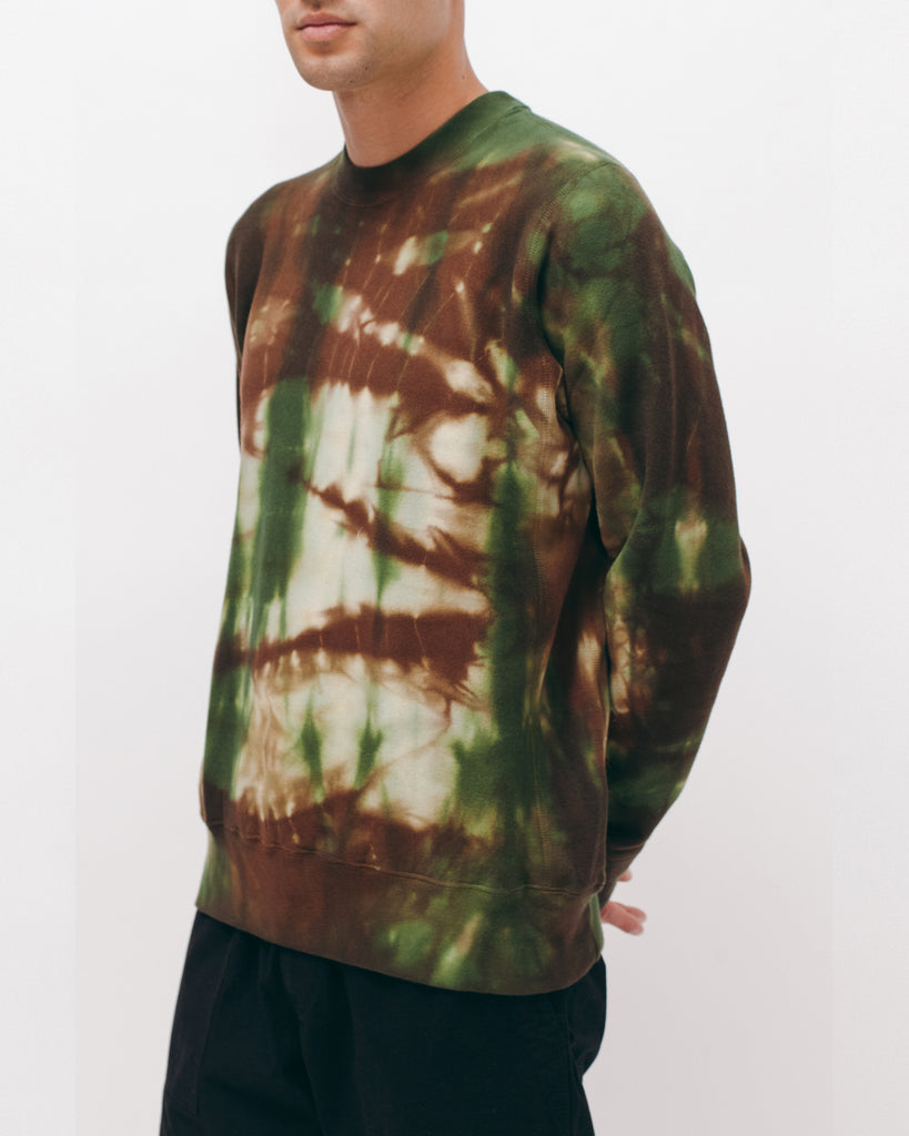 Natural Dyed Crew Fleece - Woodland Tie Dye - [product _vendor]