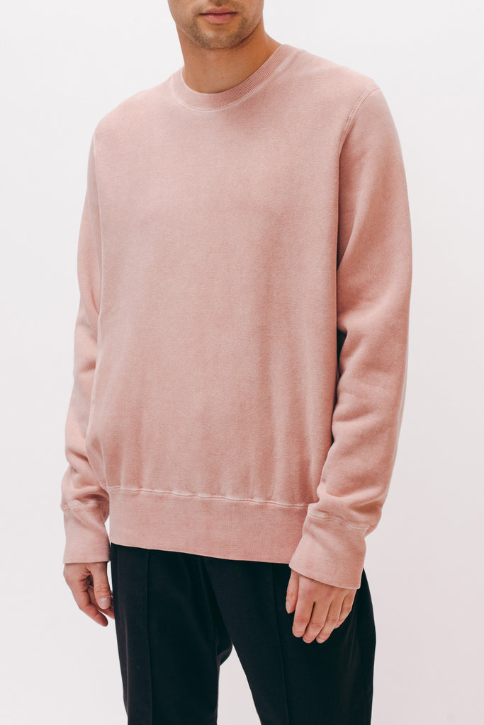 Natural Dyed Crew Fleece - Dusty Pink - Maiden Noir