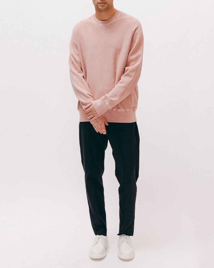 Natural Dyed Crew Fleece - Dusty Pink - [product _vendor]