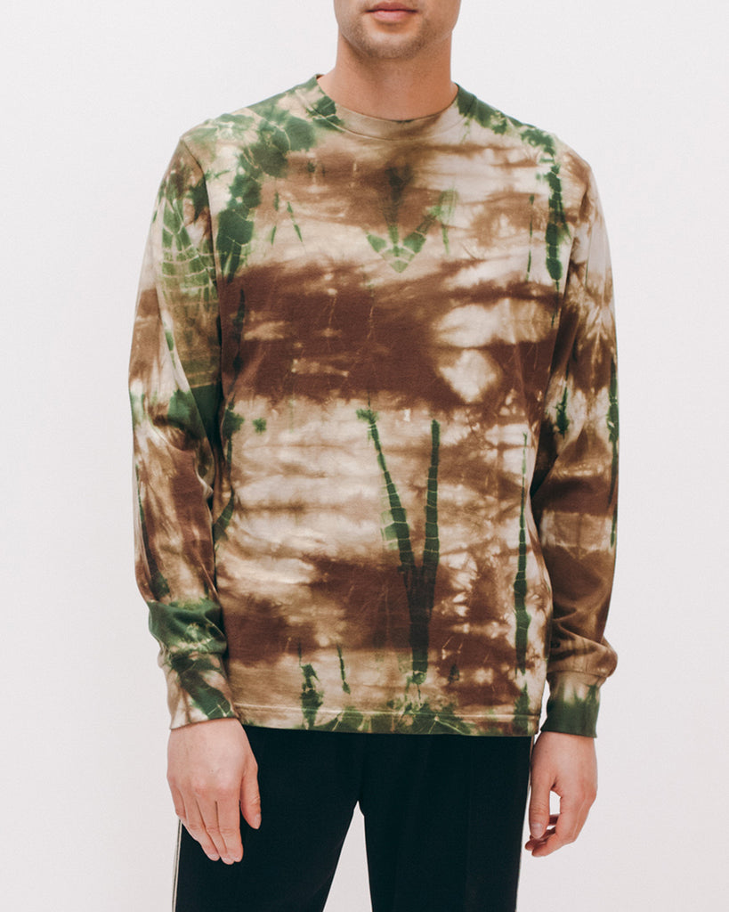 Natural Dyed Block L/S Jersey - Woodland Tie Dye - [product _vendor]