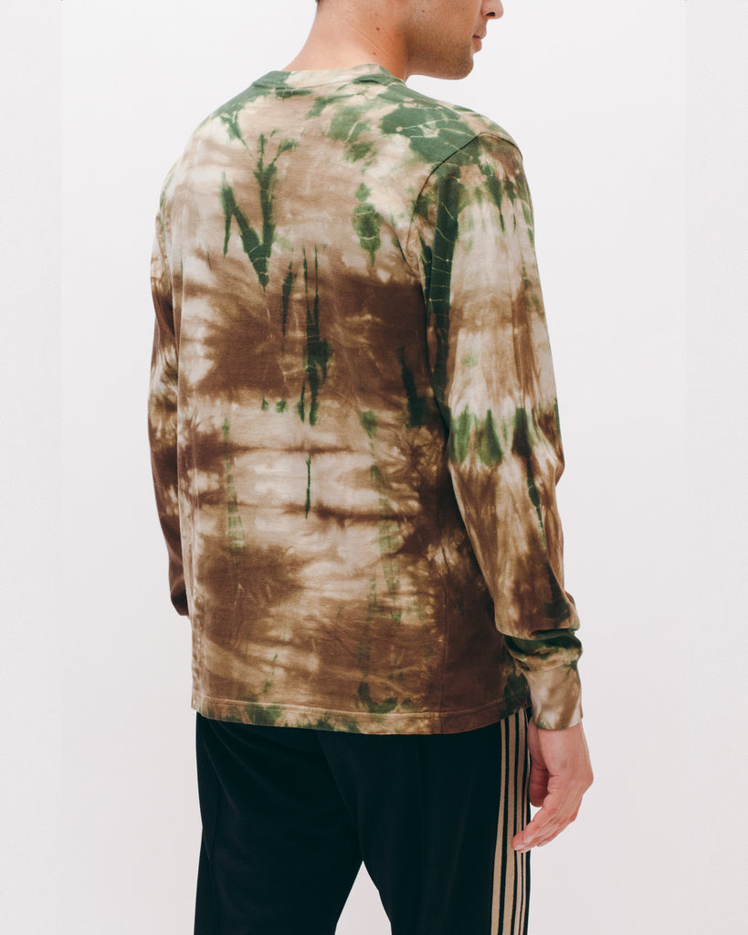 Natural Dyed Block L/S Jersey - Woodland Tie Dye