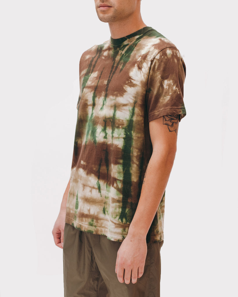 Natural Dyed Block S/S Jersey - Woodland Tie Dye