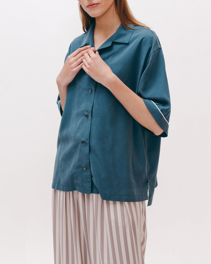 Pajama Shirt - Dark Teal - [product _vendor]