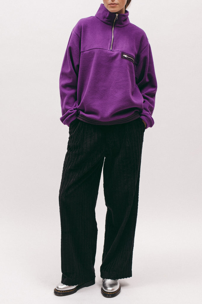 Polar Fleece Popover- Purple
