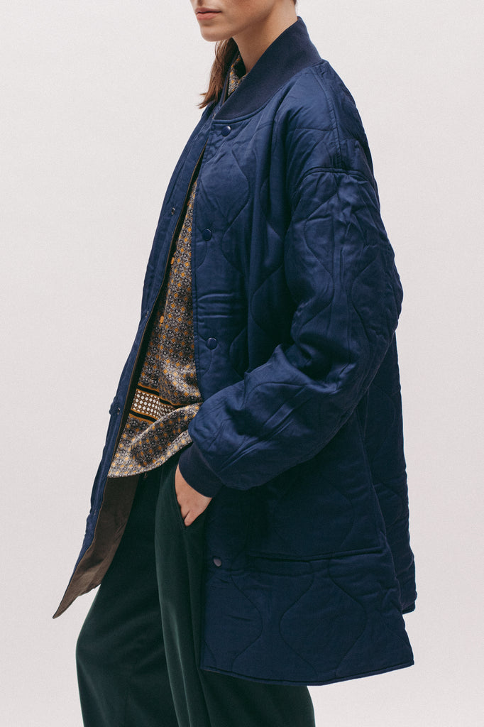 Long Bomber - Seaweed/Navy - [product _vendor]