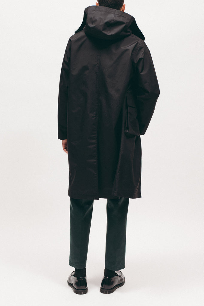 Hooded Mac Coat - Black - [product _vendor]