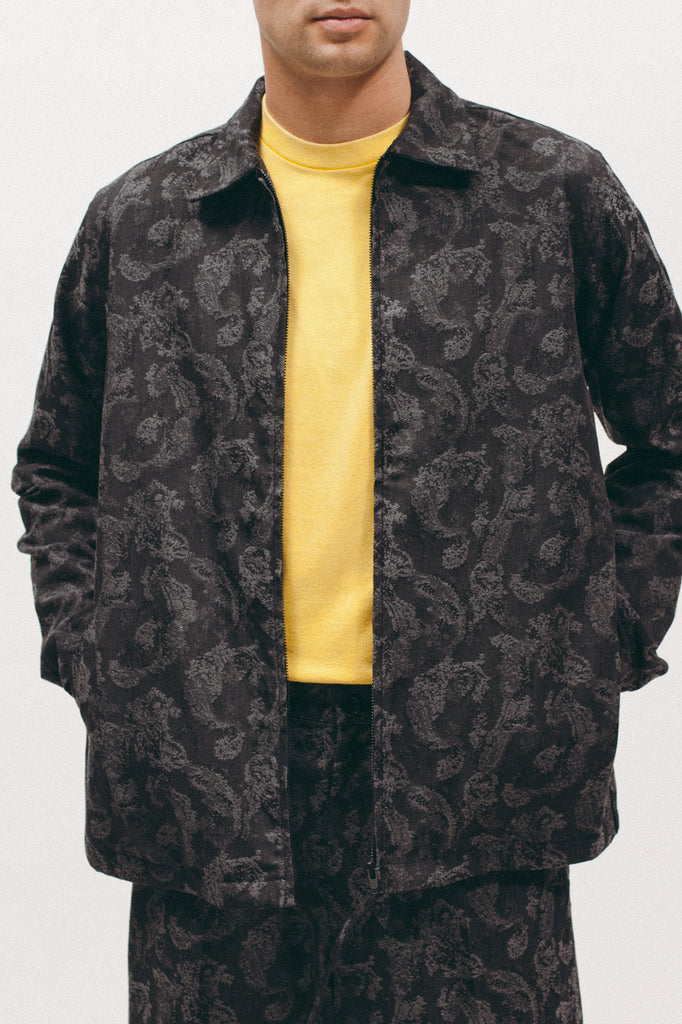 Paisley Zip Shirt - Charcoal - [product _vendor]