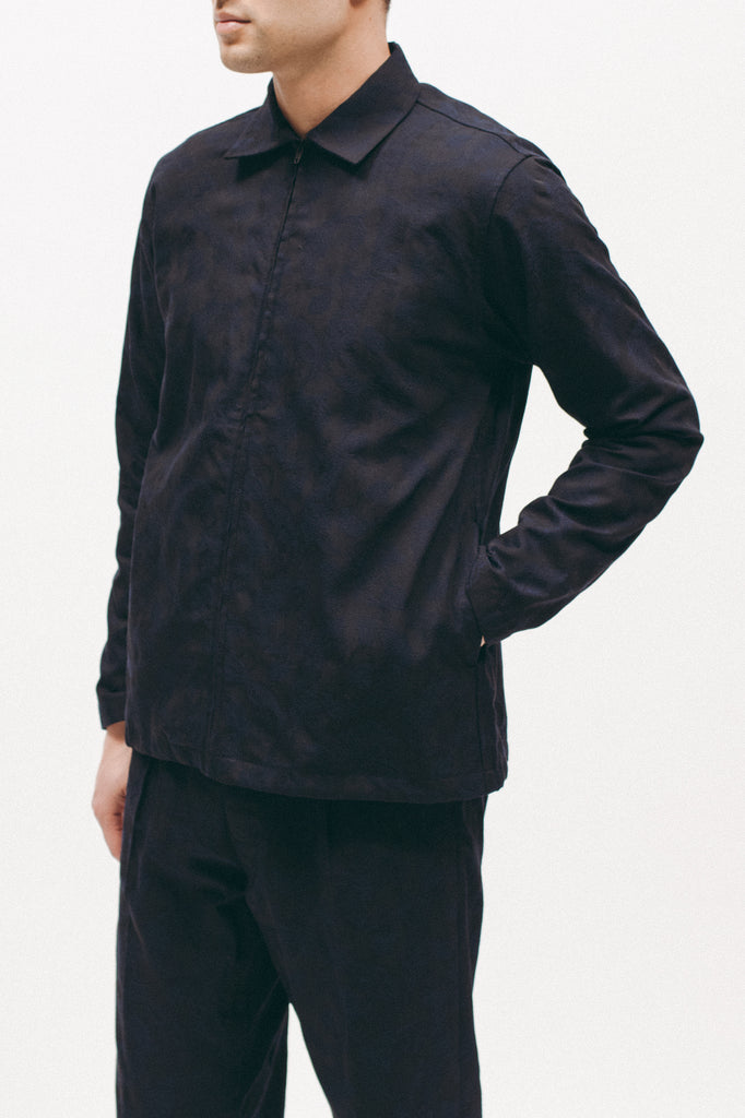 Paisley Zip Shirt - Navy - [product _vendor]