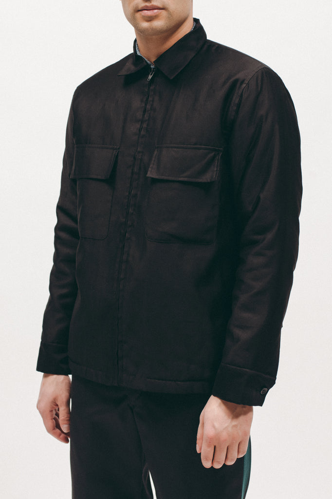 Quilted Moleskin LS Shirt - Black - [product _vendor]