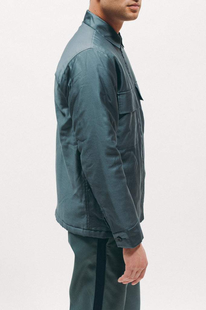 Quilted Moleskin LS Shirt - Emerald