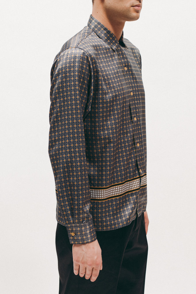 Diamond LS Rayon Shirt - Gold