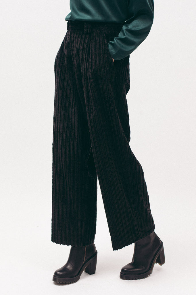 Cord Trouser - Black - [product _vendor]