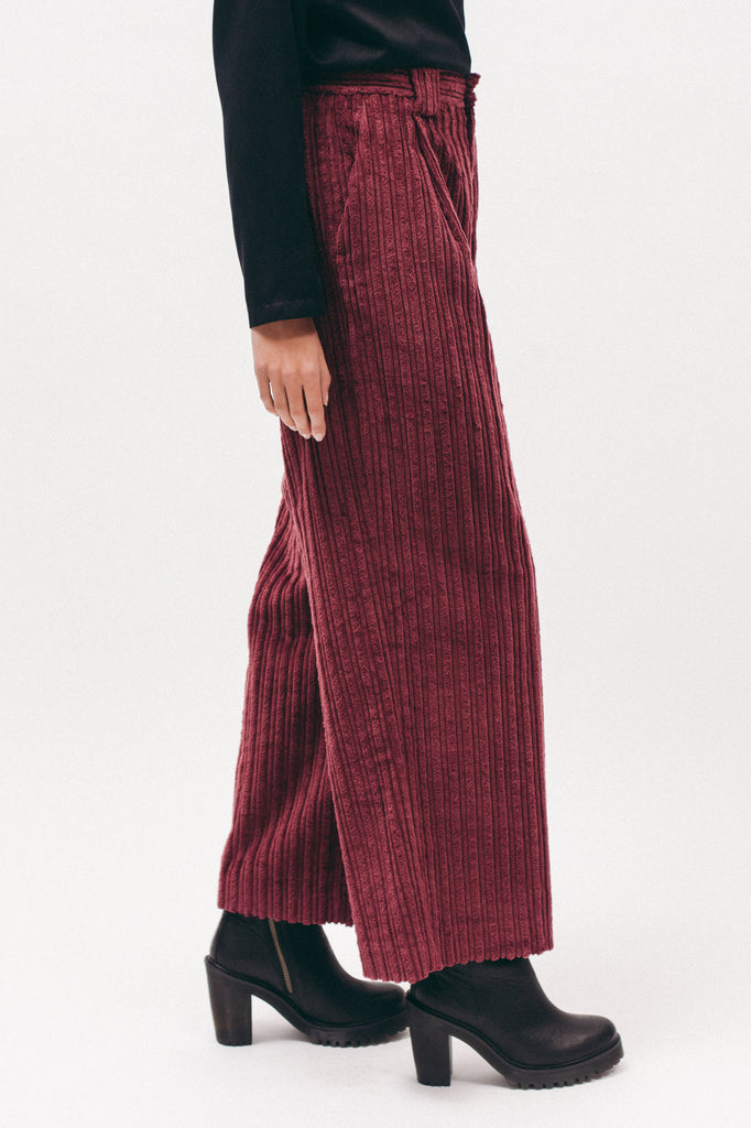 Cord Trouser - Dark Rose