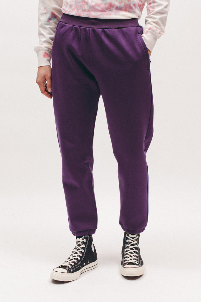 Poly Fleece Pants - Plum - [product _vendor]