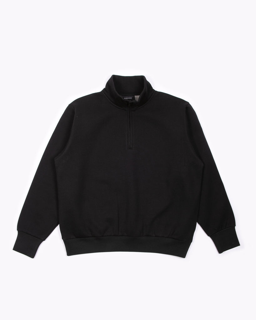 Zip Mock Poly Fleece - Black