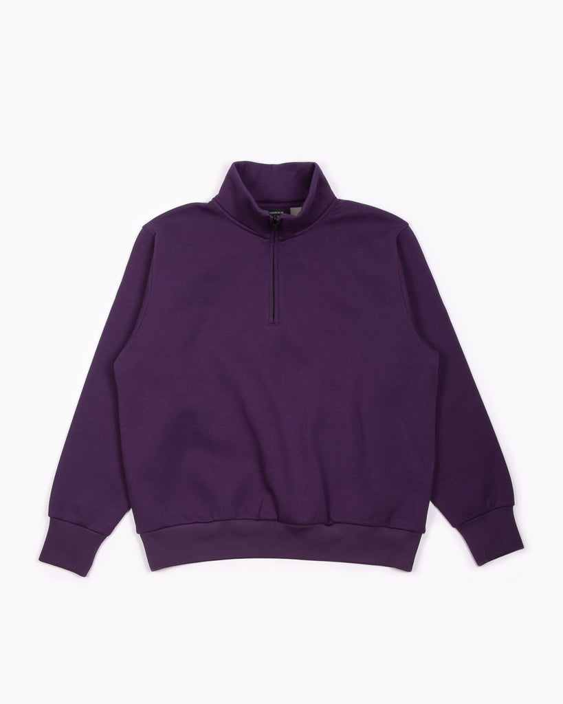 Zip Mock Poly Fleece - Lavender
