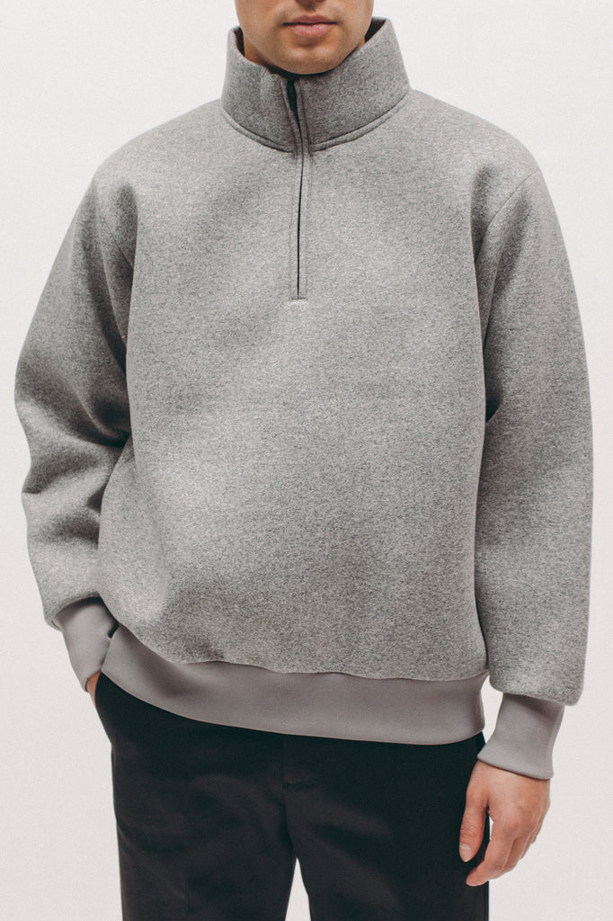 Zip Mock Poly Fleece - Heather - [product _vendor]