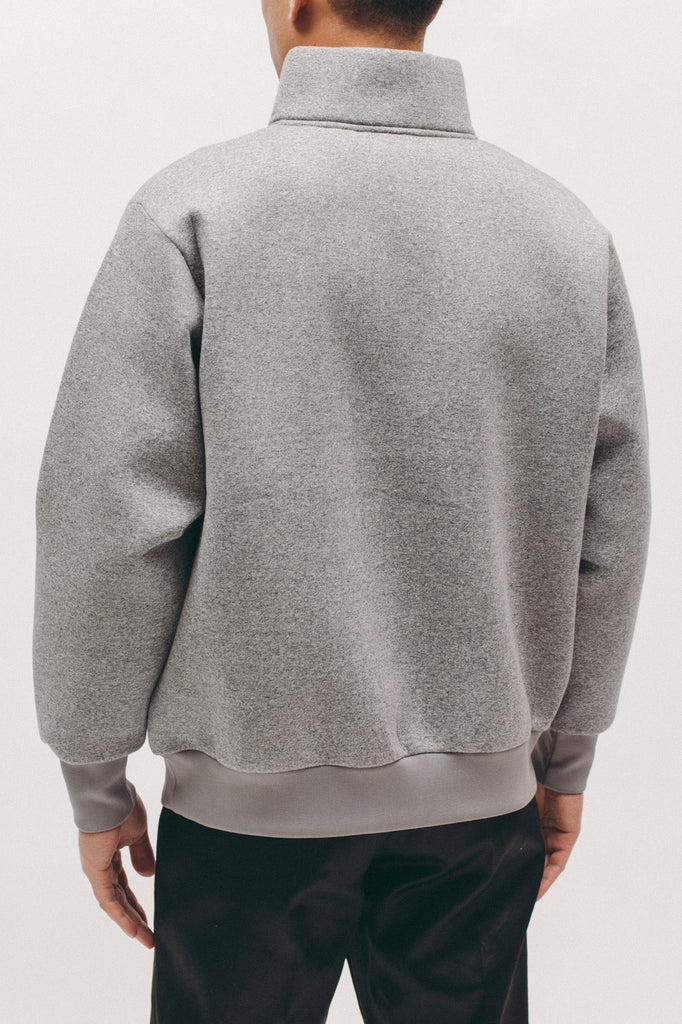 Zip Mock Poly Fleece - Heather