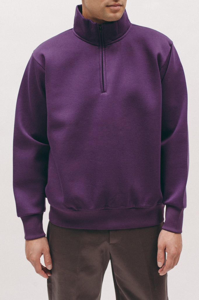 Zip Mock Poly Fleece - Plum - [product _vendor]