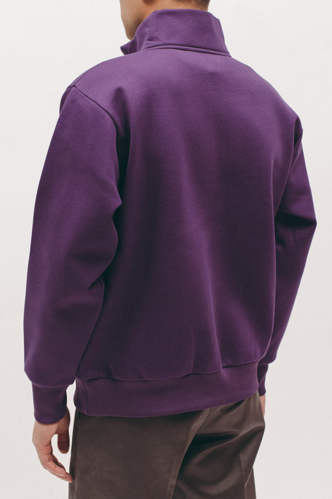Zip Mock Poly Fleece - Lavendar