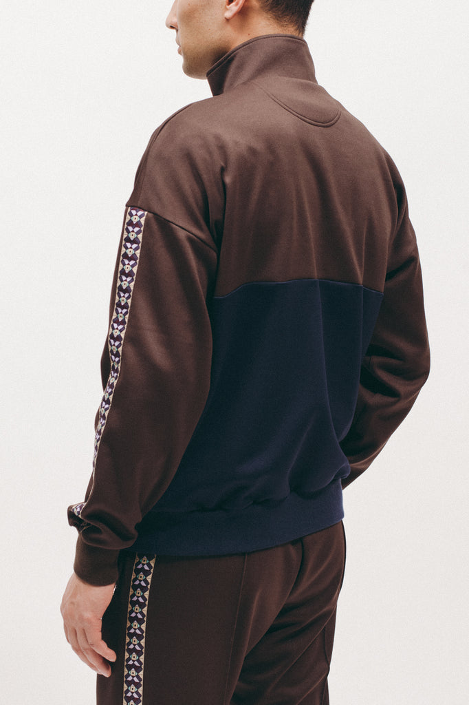 Track Jacket - Brown/Navy - [product _vendor]
