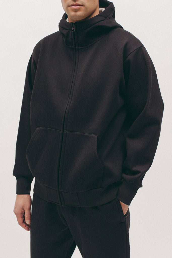 Hoodie Poly Fleece - Black