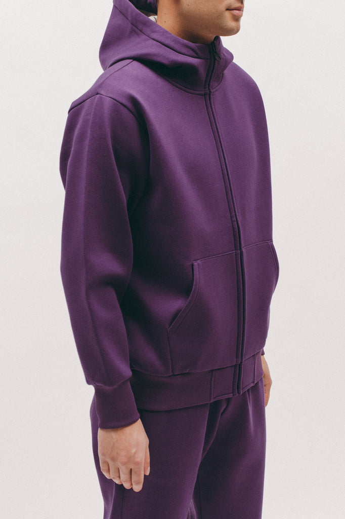 Hoodie Poly Fleece - Plum - [product _vendor]