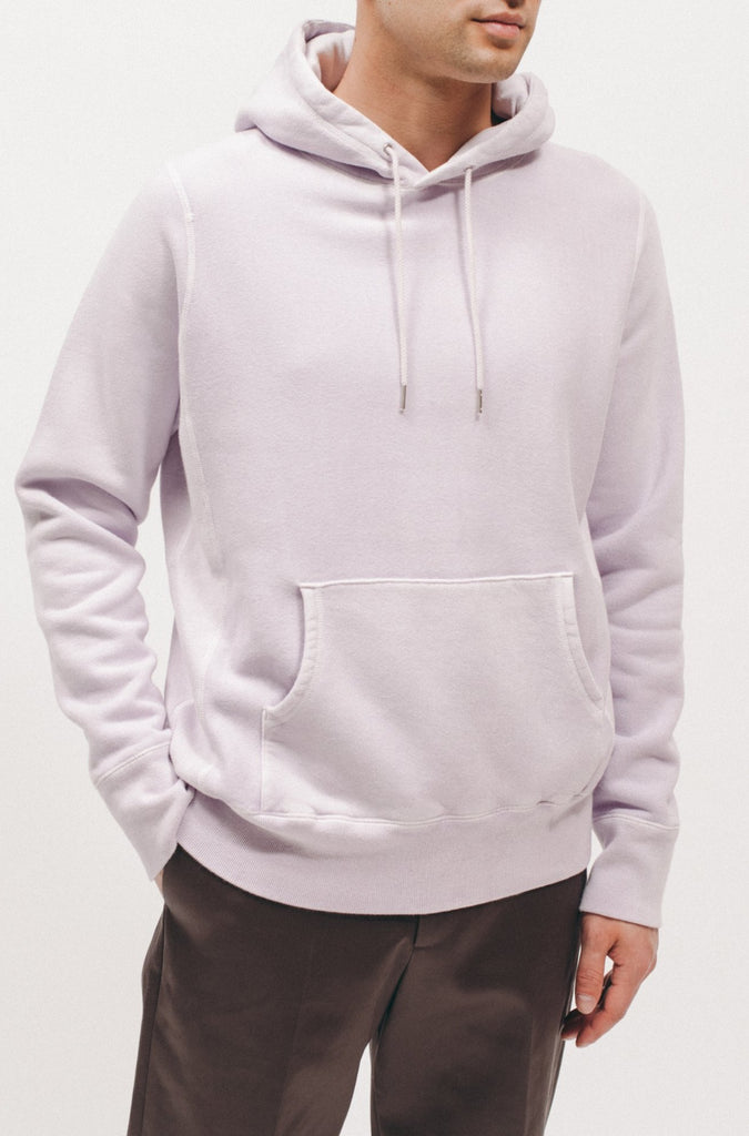 Natural Dyed Hoodie Fleece - Lavender - Maiden Noir