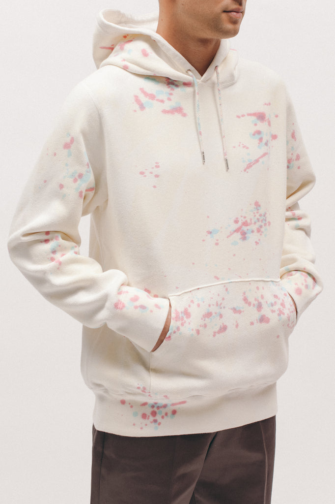 Natural Dyed Hoodie Fleece - Splatter Tie Dye - Maiden Noir